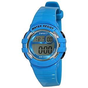 [クレファー]CREPHA 腕時計 T-SPORTS デジタル表示 10気圧防水 ブルー AZ-TS-D037-BL ボーイズ
