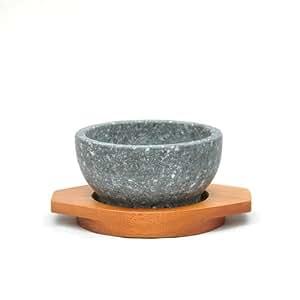 【本場韓国長水石】石焼きビビンバ鍋12cm木台付セット
