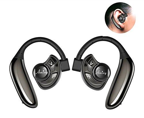 Bluetooth イヤホン 高音質 耳掛け式 ワイヤレスヘッドセット 片耳 両耳とも対応 ブルートゥース スポーツ イヤホン マイク内蔵 防汗 防滴 iPhone Android 対応