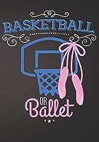 Basketball or Ballet: Gender Reveal Baby Shower Sign In Guest Book Plain