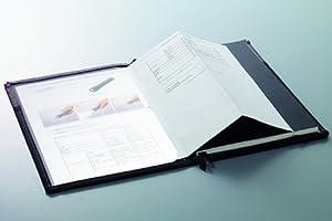 コクヨ カバーノート システミック ノート2冊収納 グレー×黒 A5用 ペン・小物収納ポケット付 ノ-655A-1