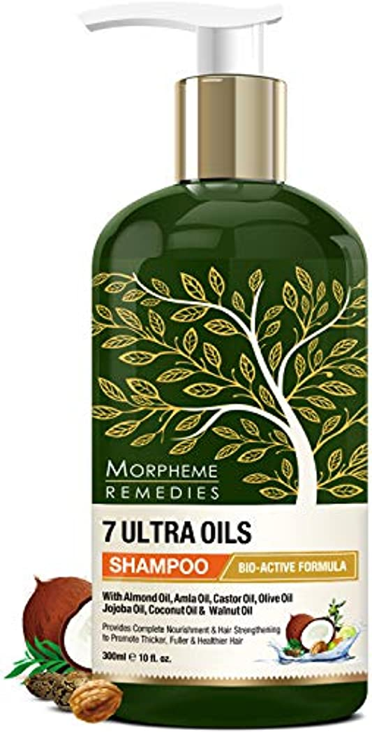 桁入り口海藻Morpheme Remedies 7 Ultra Oils Shampoo, 300ml - Provides Complete Nourishment & Hair Strengthening to Promote...