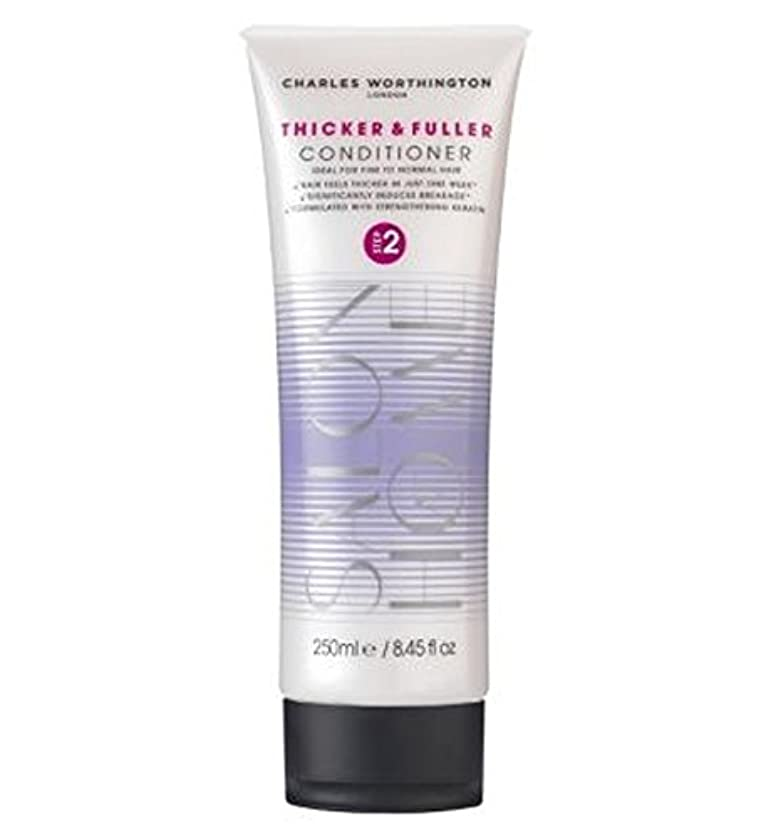 チャールズ?ワージントン厚く、充実したコンディショナー250Ml (Charles Worthington) (x2) - Charles Worthington Thicker and Fuller Conditioner...