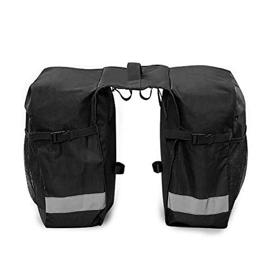 スケルトン作成者旅客自転車 リアバッグ 取り外し可能な自転車ラックバッグ2 in 1-防水カバー付き自転車パニアリアラックバッグ バイクフレームバッグ (色 : Black, Size : 30*30*14)