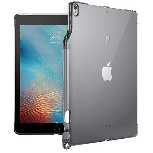 iPad Pro 10.5 ケース Poetic -[Lumos Series]- アップル 10.5型 アイパッド プロ 対応 [ウルトラスリム] [TPU製 ケース] Smart Keyboard 対応 Apple Pencil 収納スロット付き (グレー)