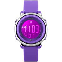 BesWLZ Kids Outdoor Sport LED Digital Electrical Luminescent Waterproof Alarm Children Dress Wrist Watch with LED Alarm Stopwatch for Boys Girls