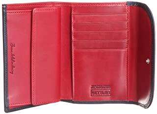 3 Fold Purse Wallet 3146-403-0042: Navy / Red