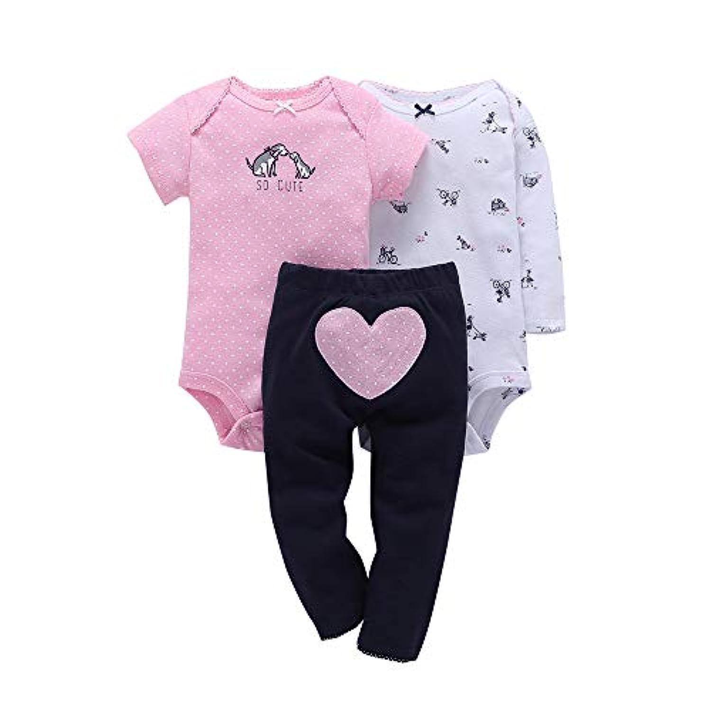 Comfydot ロンパース 女の子 前開き 新生児 夏 ノースリーブ カバーオール 綿100% マルチカラー 9-18か月