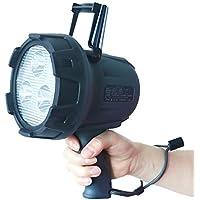 GOODGOODS LEDサーチライト 充電式 15W 1500lm 900m遠距離照射 狭角15°配光 スポットライト 携帯式 探照灯 USBポート付【一年保証】 YC-15G …