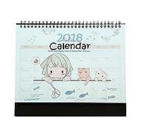 2017-2018ラブリーオフィスカレンダーデスクカレンダープランヘルパー、ガールスタイル