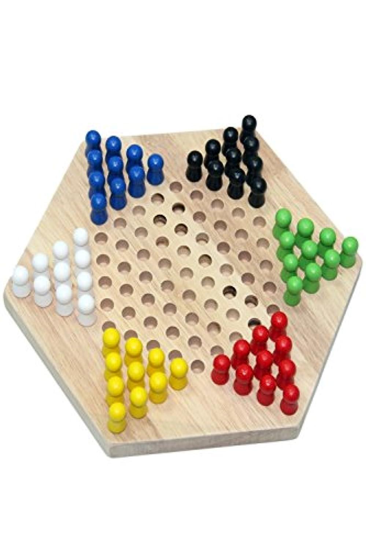 (Muu3) チェッカー ボードゲーム 木製 セット エディケーショナル 玩具