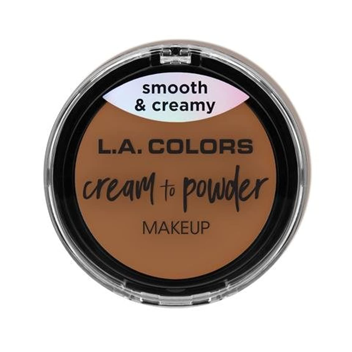 ネスト夜明けに周囲(3 Pack) L.A. COLORS Cream To Powder Foundation - Sand (並行輸入品)