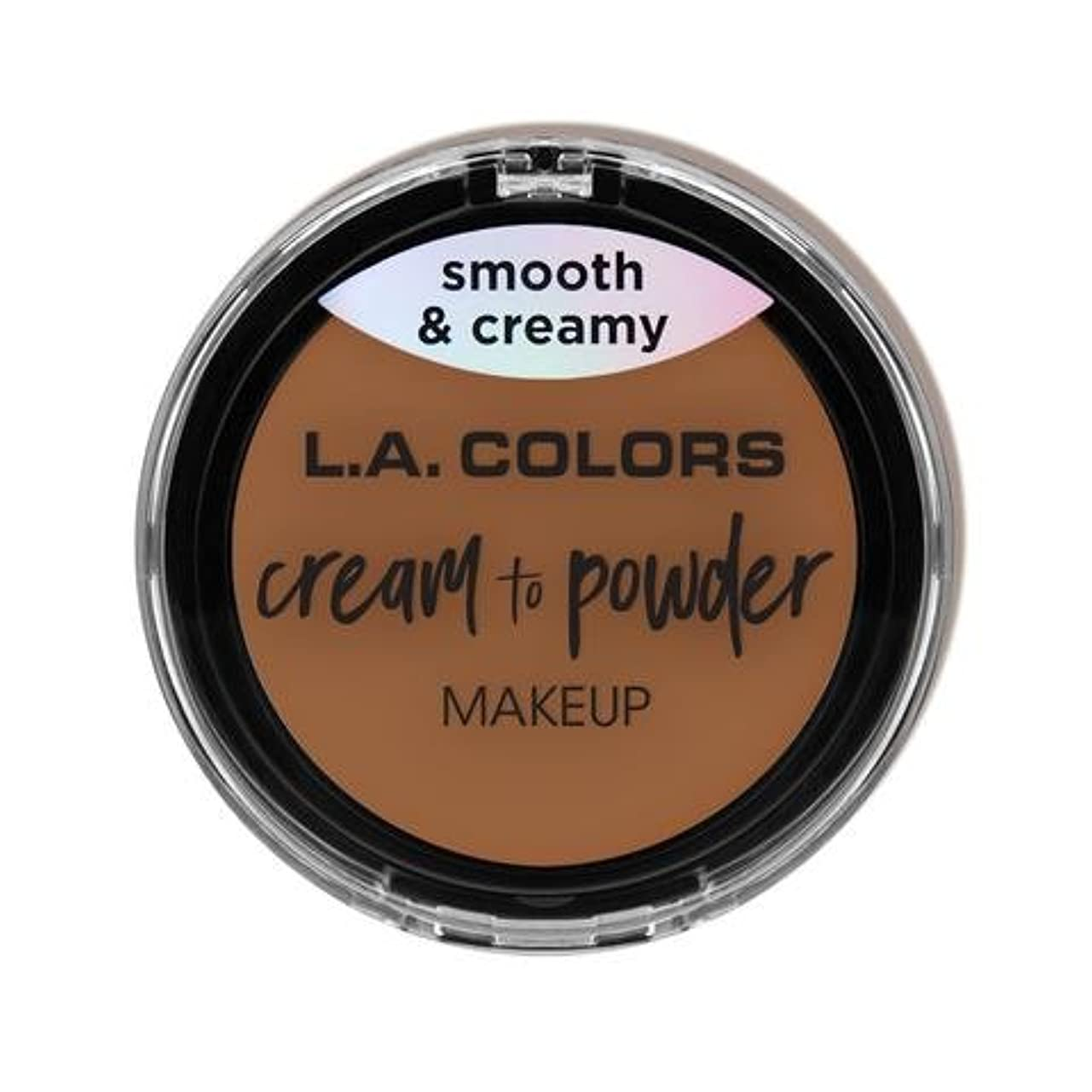 十二宝みすぼらしい(3 Pack) L.A. COLORS Cream To Powder Foundation - Sand (並行輸入品)