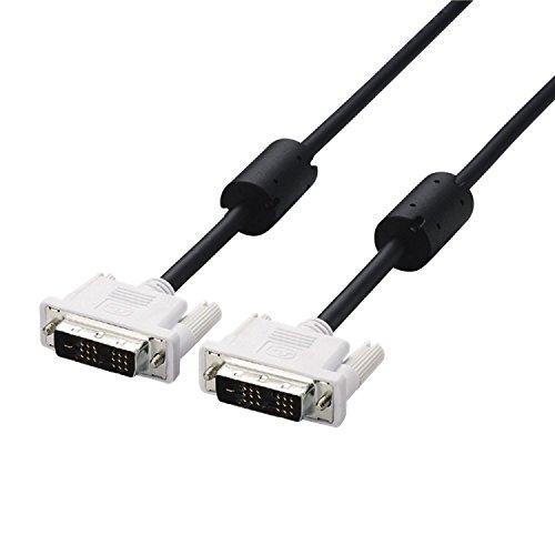 ELECOM ディスプレイケーブル DVIシングルリンク(デジタル) DVI-D 24ピン オス-DVI-D 24ピン オス 1.5m ブラック CAC-DVSL15BK