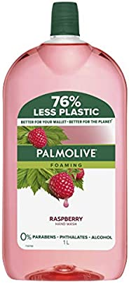 Palmolive Foaming Hand Wash Soap Raspberry Refill and Save 0 percentage Parabens 0 percentage Phthalates Remov