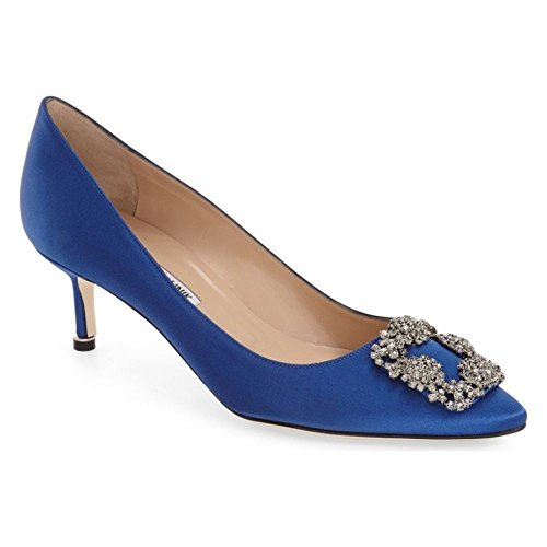 (マノロブラニク) MANOLO BLAHNIK レディース シューズ・靴 パンプス 'Hangisi' Crystal Embellished Pump [並行輸入品]