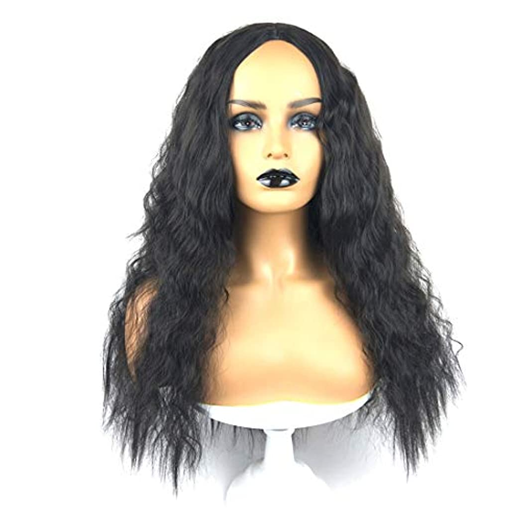 適切にモードリン理想的にはSummerys 女性のための自然に見える長い波状右なしレース耐熱交換用かつら完全合成かつら