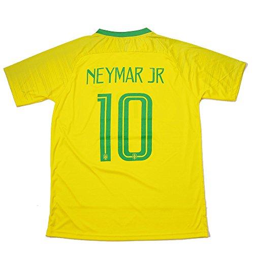 ネイマール Jr #10 メンズ Brasil代表 ホーム ロシアW杯 サッカー ユニフォーム (フリーサイズ)