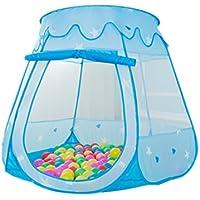 Dazers キッズテント ボールハウス 折りたたみ式 室内遊具 アウトドア おもちゃ (ブルー  )
