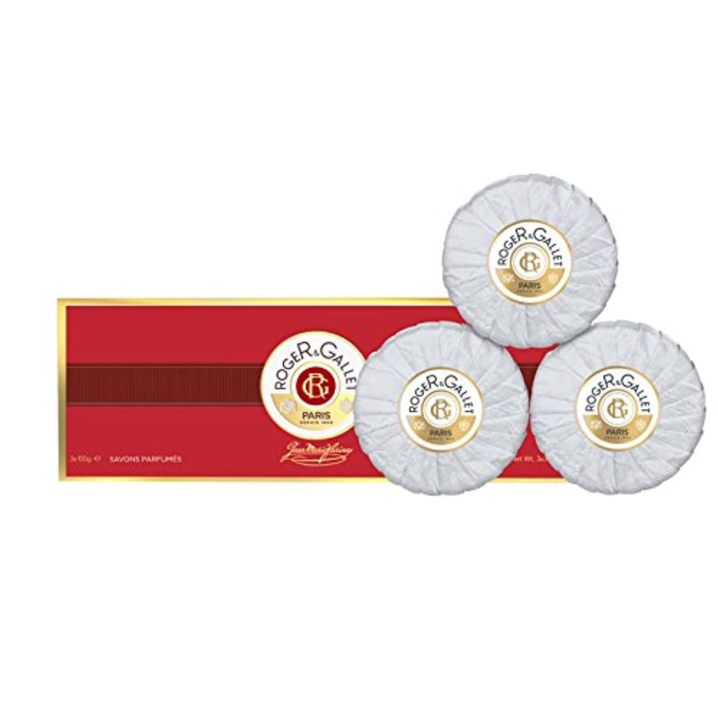 まばたきこっそり顔料ロジェガレ ジャンマリファリナ 香水石鹸 3個セット 100g×3 ROGER&GALLET JEAN MARIE FARINA SOAP [並行輸入品]