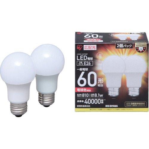 [해외]LED 전구 E26 넓은 배광 60 형 상당 전구 색 2 개 세트 아이리스 LDA9L-G-6T32P/LED bulb E26 wide light distribution 60 type equivalent electric bulb color 2 piece set IRIS OYAMA LDA9L-G-6T32P