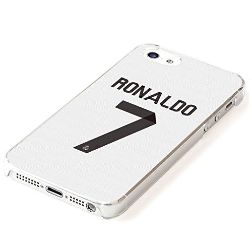 i5s_00757 - クリスティアーノ ロナウド : レアル マドリード ホワイト 透明ケース Cristiano Ronaldo 背番号7 【平日:翌営業日発送・土日注文:月曜日・連休日:業務開始日発送+液晶保護フィルム1枚プレゼント】iPhone5 5s アイフォン5 アイフォン5Sケース クリアケース スマホカバー
