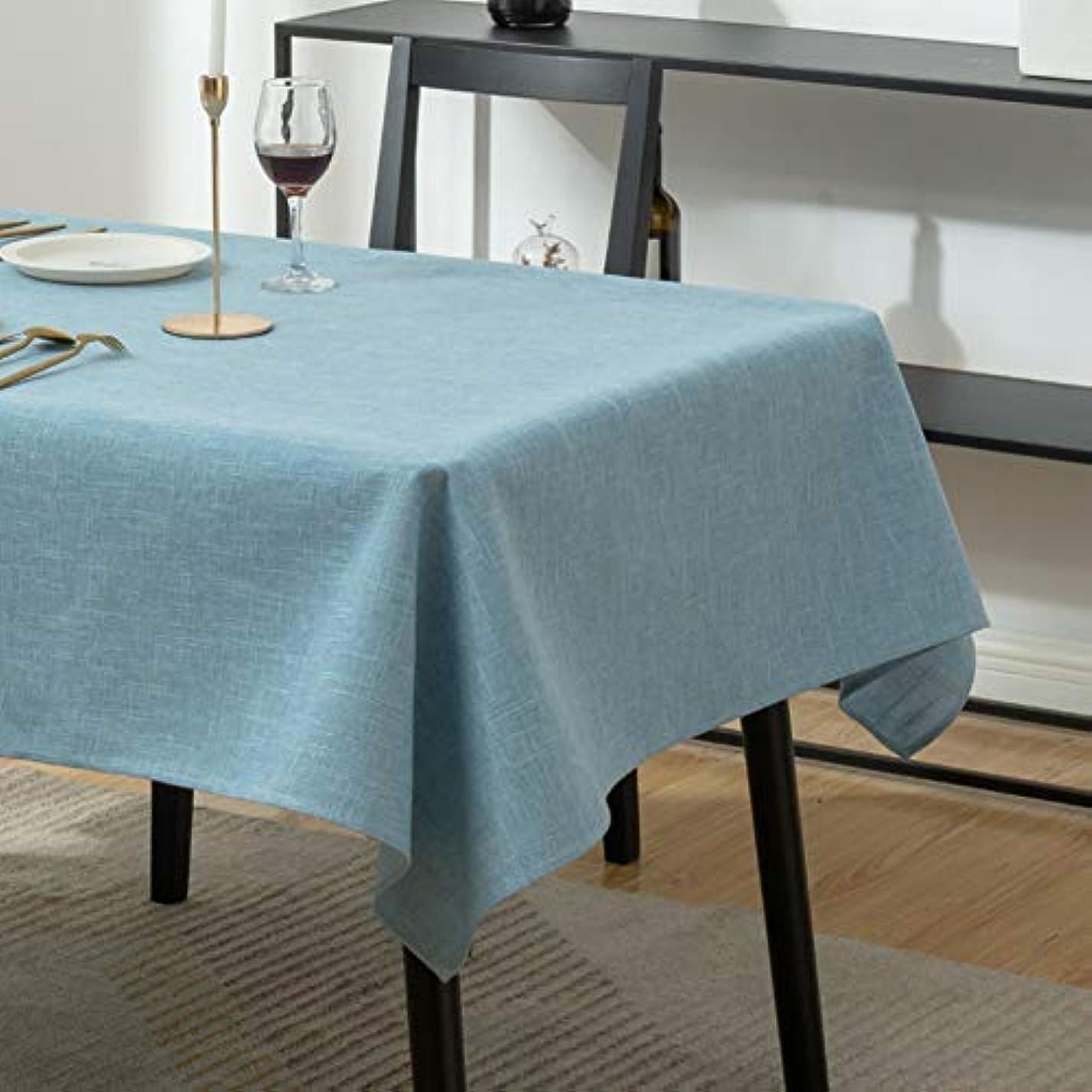 複製暴力的な引退した単色 コットンリネン テーブルクロス,防水 四角形 テーブルクロス きれいに拭く テーブルカバー 汚れダスト 油 装飾的です テーブルリネン-c 140x180cm(55x71inch)