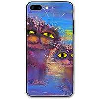 BerryeE 猫 IPhone7Plus用携帯ケース 携帯電話の殻 耐衝撃 3D印刷 TPU フロッグ アイフォン シリコン 人気NO.1 男女兼用