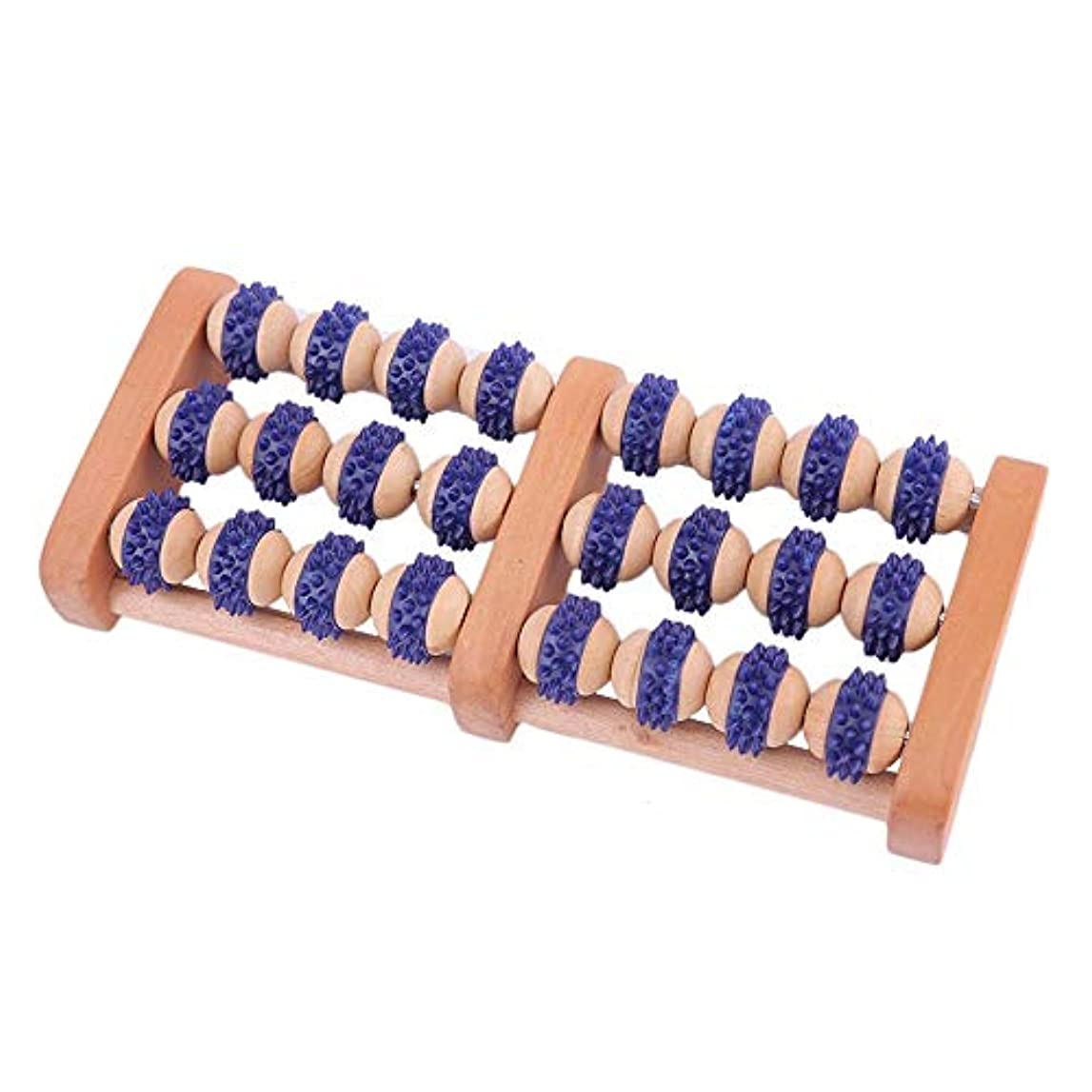 襟電卓連邦足裏マッサージローラー 使用するのに適してマニュアルフットマッサージャー木製フットマッサージローラーポータブルデュアルマッサージローラー旅行やテレビを見ているとき 軽量で使いやすく、足の痛みを和らげます (Color :...