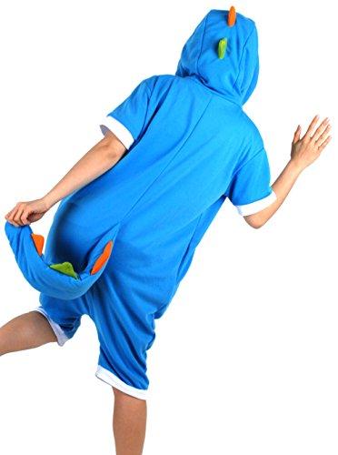 【MOMSMOM】幸せ 恐竜・大人用サマーキャラクターアニマル着ぐるみ・動物パジャマ・ハロウィン・お祭り・イベント・コスプレ・文化祭・部屋着・団体旅行にも~【並行輸入品】 (M, ブルー)