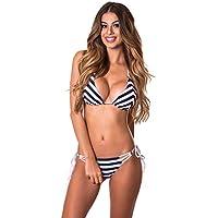 RELLECIGA Women's Triangle Stripe Bikini Set Swimsuit for Women