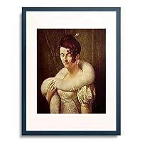 Gerard, Francois Pascal Simon,1770-1837 「Die Frau mit der Haarnadel.」 額装アート作品