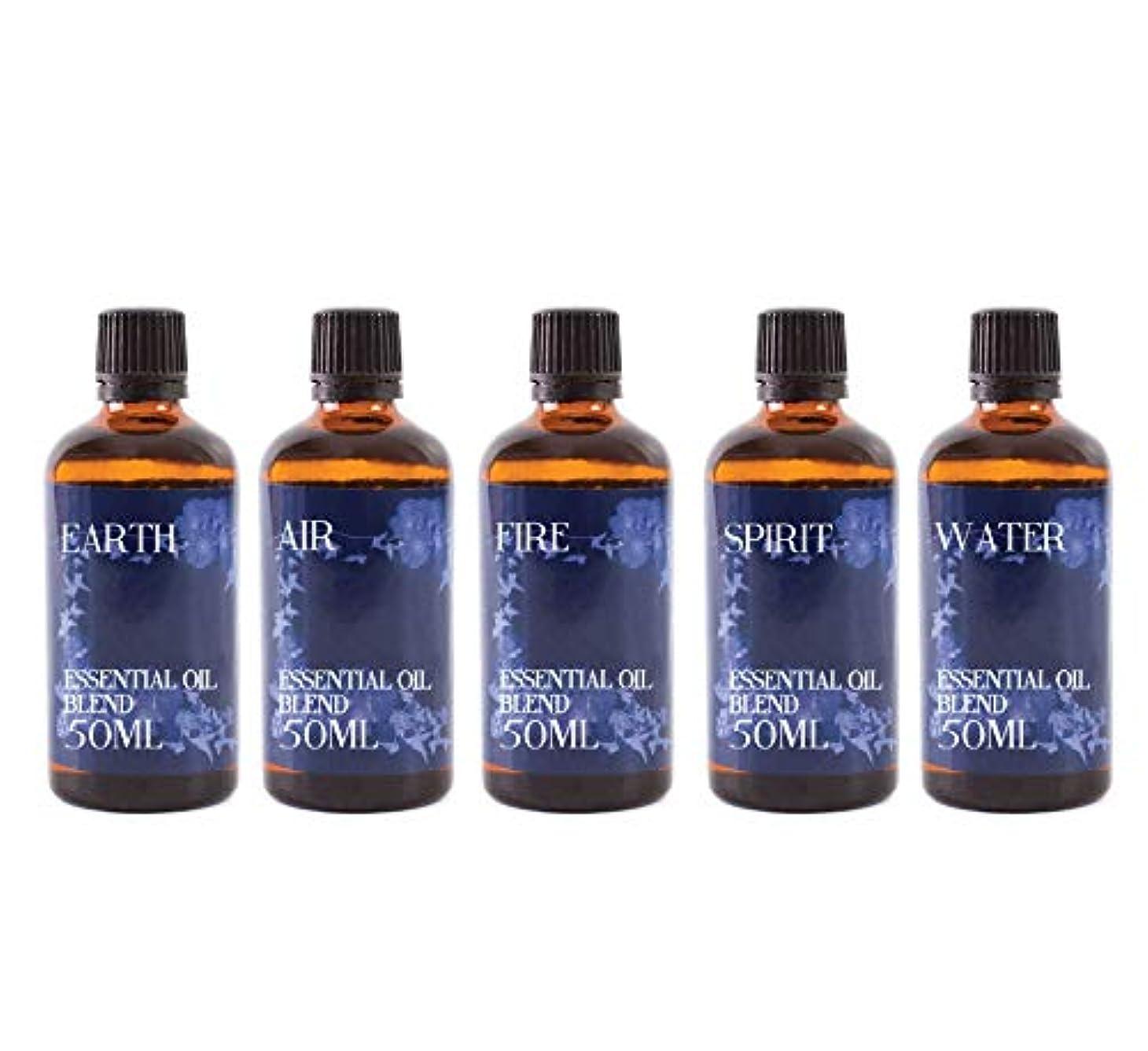 ホイッスル使い込む読み書きのできないMystix London   Gift Starter Pack of 5 x 50ml - The 5 Elements - Essential Oil Blends