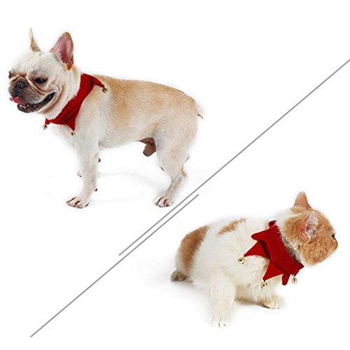 クリスマス テーマ ペット バンダ ナスカー フリング ベル ペット ネクタイカー 襟 新年 3サイズ選択可能 (L)