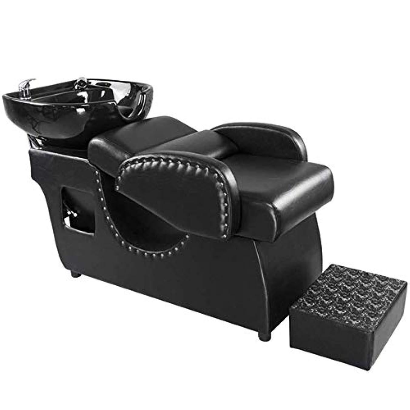 分岐する取り出すに対処するシャンプー理容室逆洗椅子、鉱泉の美容院のための陶磁器の洗面器の洗い流すベッドのシャンプーの流しの椅子