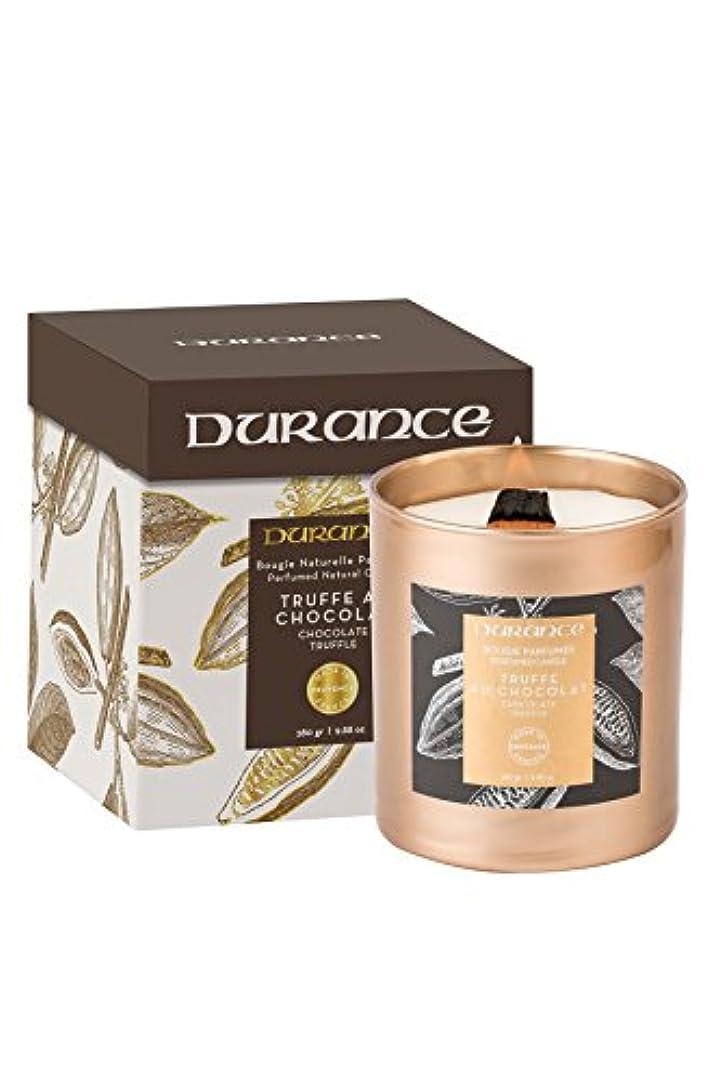 トランスペアレント天血色の良いデュランスPerfumed木製Wick Candle 280 g – チョコレートトリュフ