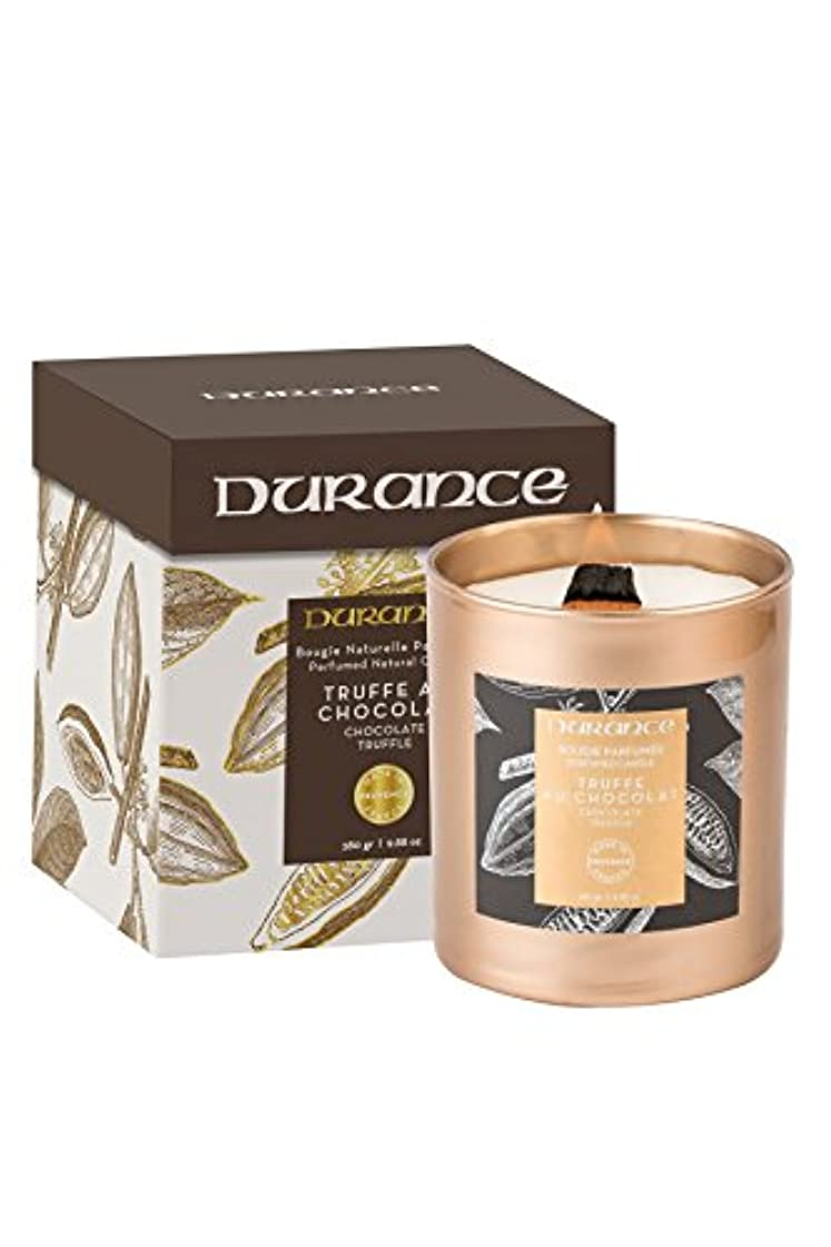 指紋繁雑コモランマデュランスPerfumed木製Wick Candle 280 g – チョコレートトリュフ