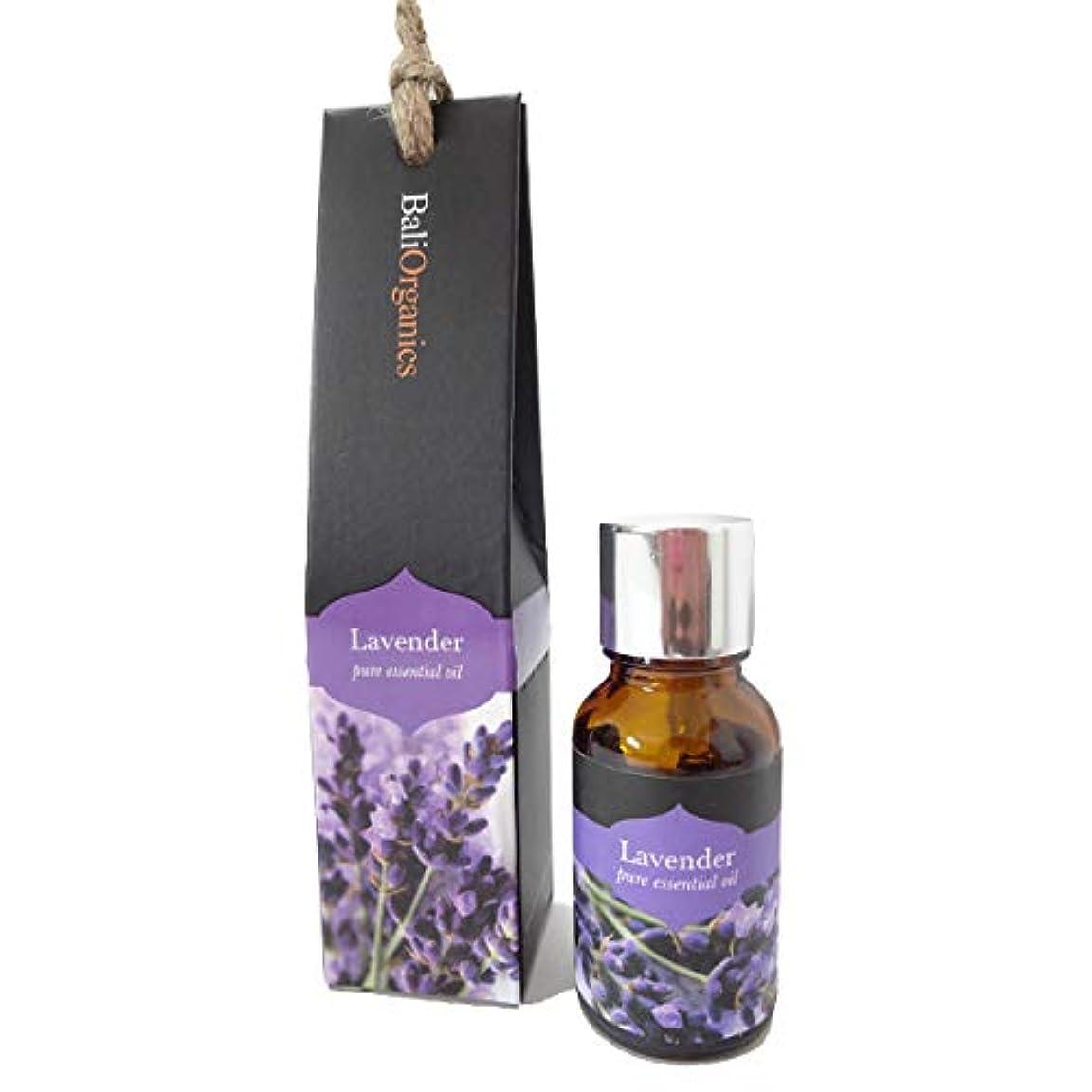 一掃する穴勇気のあるBali Organics バリオーガニック アロマ エッセンシャルオイル Lavender ラベンダー 15ml