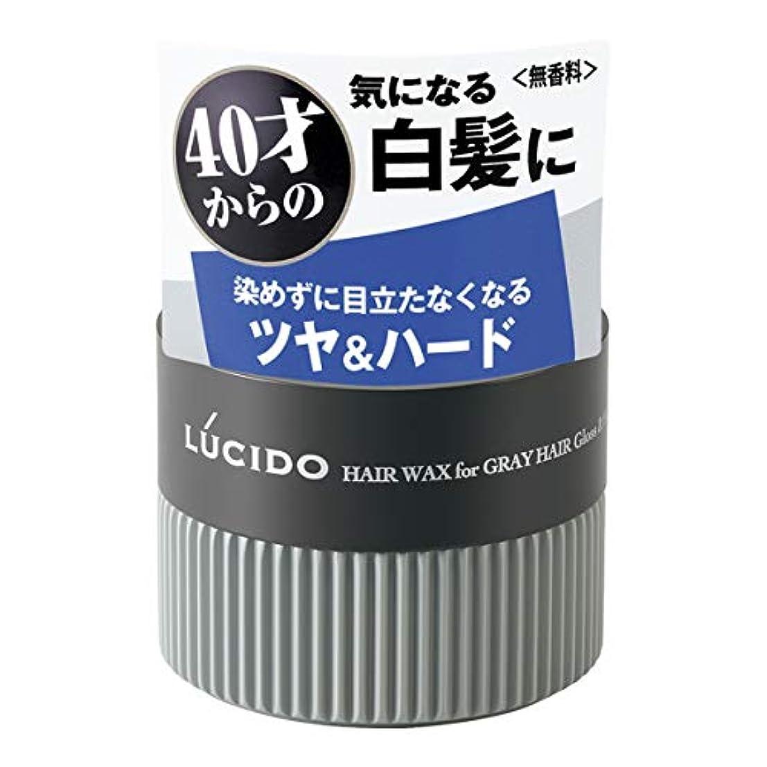 デッド伸ばす同封するLUCIDO(ルシード) ヘアワックス 白髪用ワックス グロス&ハード 80g