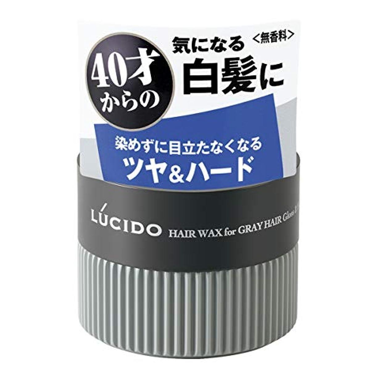 締め切り気楽なストレージLUCIDO(ルシード) ヘアワックス 白髪用ワックス グロス&ハード 80g