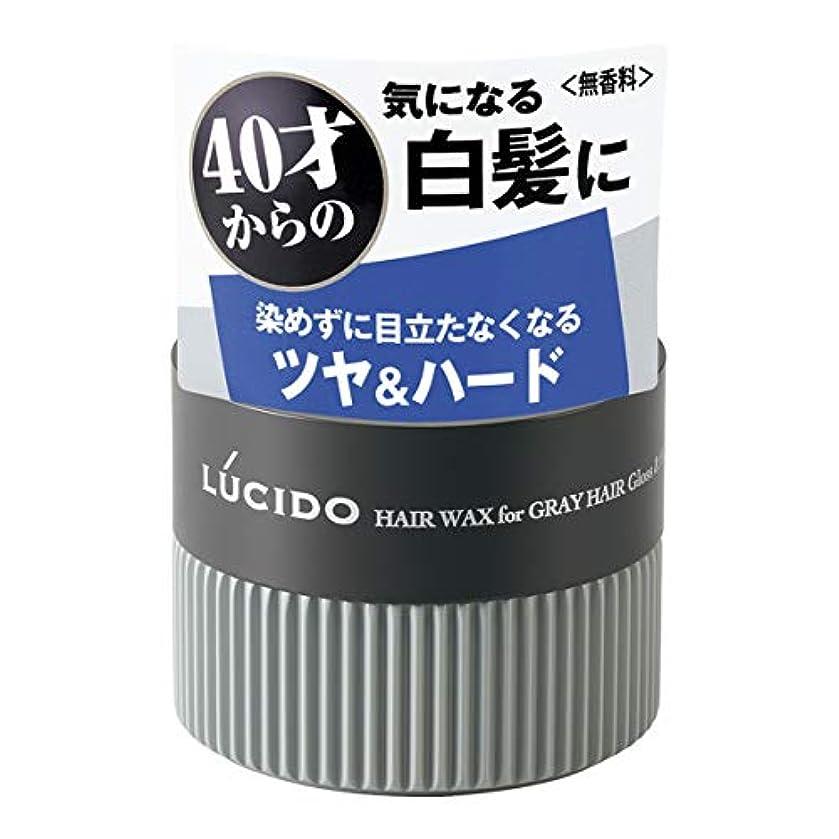 雷雨薄めるリーフレットLUCIDO(ルシード) ヘアワックス 白髪用ワックス グロス&ハード 80g