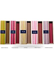 iTakara 日本香コレクション | 日本の庭 40x5 | リラックス、瞑想、祈り、読書、ヨガ用フローラルとアロマの木の香り | クリーン燃焼、ピュアな香り