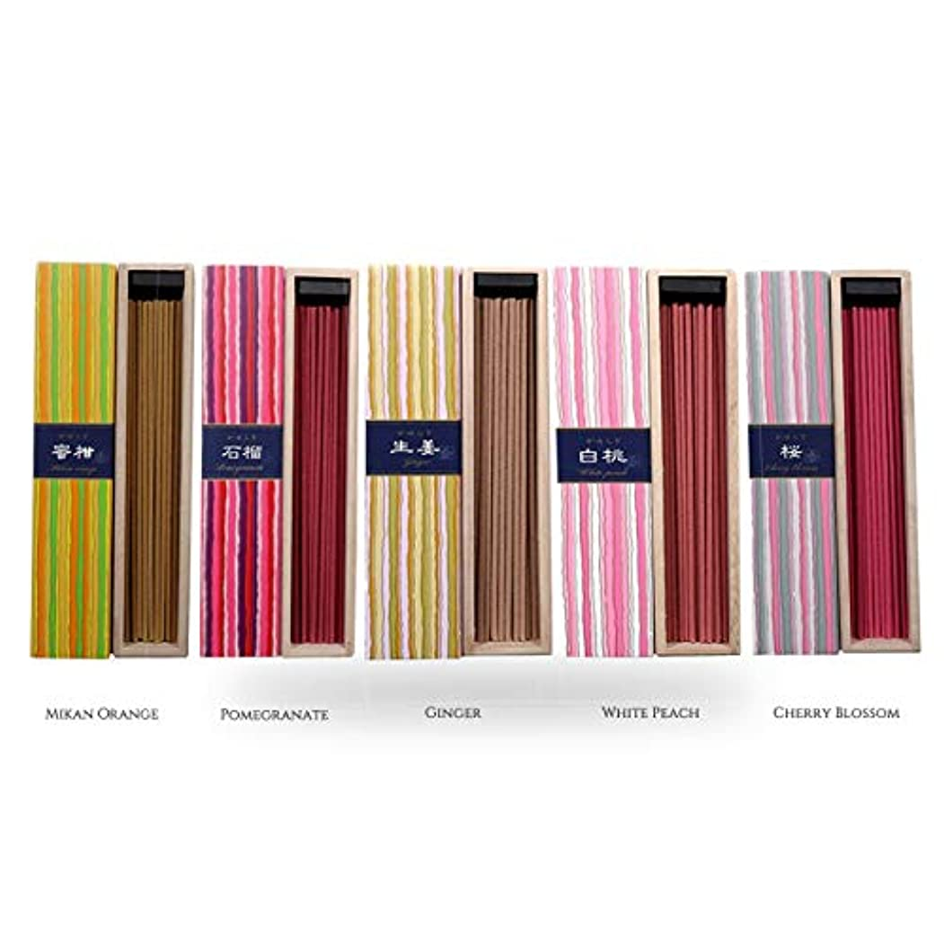 確かに櫛艦隊iTakara 日本香コレクション | 日本の庭 40x5 | リラックス、瞑想、祈り、読書、ヨガ用フローラルとアロマの木の香り | クリーン燃焼、ピュアな香り