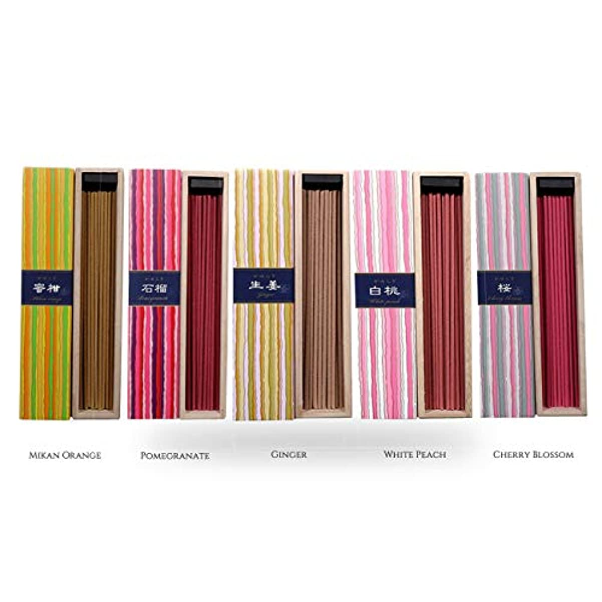 iTakara 日本香コレクション   日本の庭 40x5   リラックス、瞑想、祈り、読書、ヨガ用フローラルとアロマの木の香り   クリーン燃焼、ピュアな香り