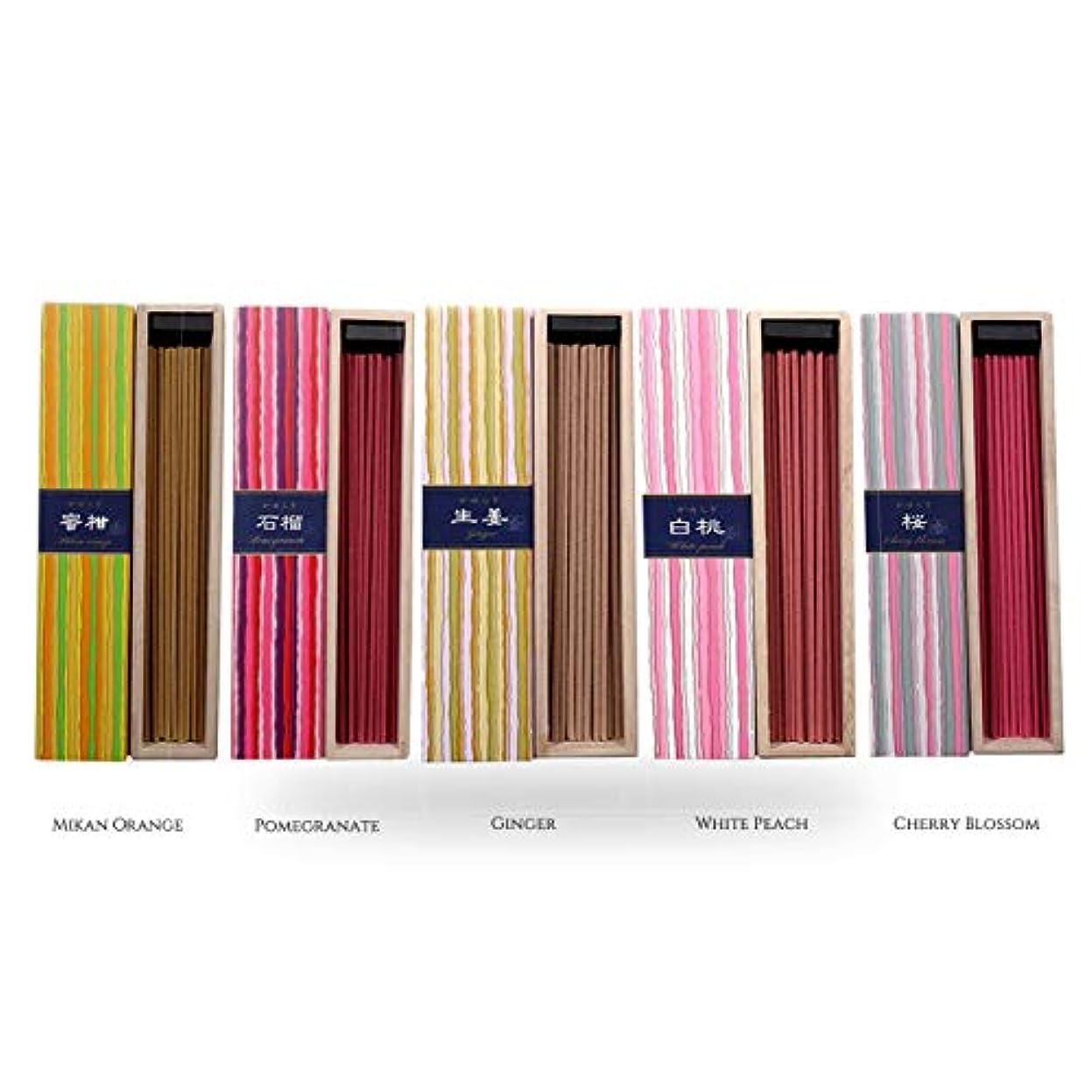 ファンおんどりイーウェルiTakara 日本香コレクション | 日本の庭 40x5 | リラックス、瞑想、祈り、読書、ヨガ用フローラルとアロマの木の香り | クリーン燃焼、ピュアな香り