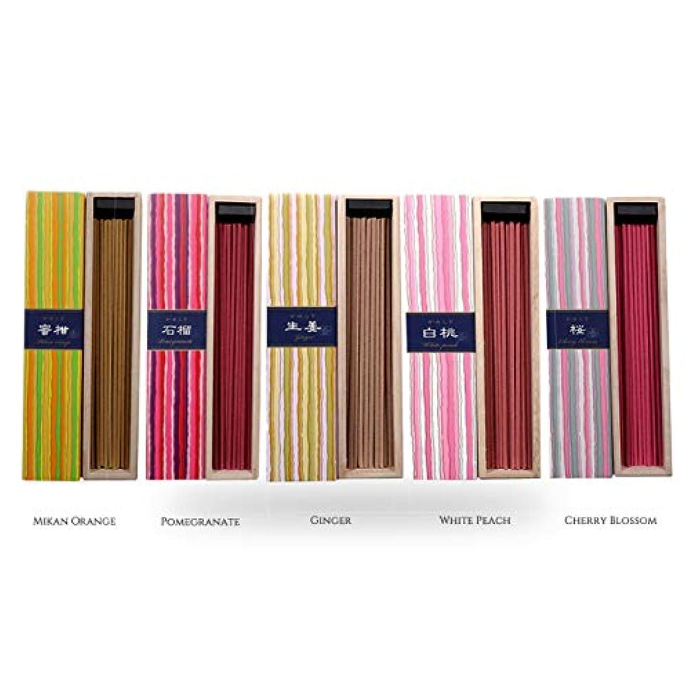 ライフル梨迷信iTakara 日本香コレクション | 日本の庭 40x5 | リラックス、瞑想、祈り、読書、ヨガ用フローラルとアロマの木の香り | クリーン燃焼、ピュアな香り