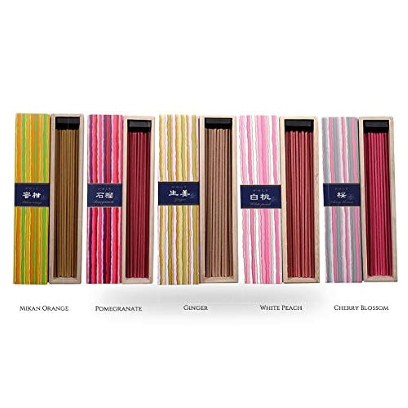 呼び起こす持続する摘むiTakara 日本香コレクション | 日本の庭 40x5 | リラックス、瞑想、祈り、読書、ヨガ用フローラルとアロマの木の香り | クリーン燃焼、ピュアな香り