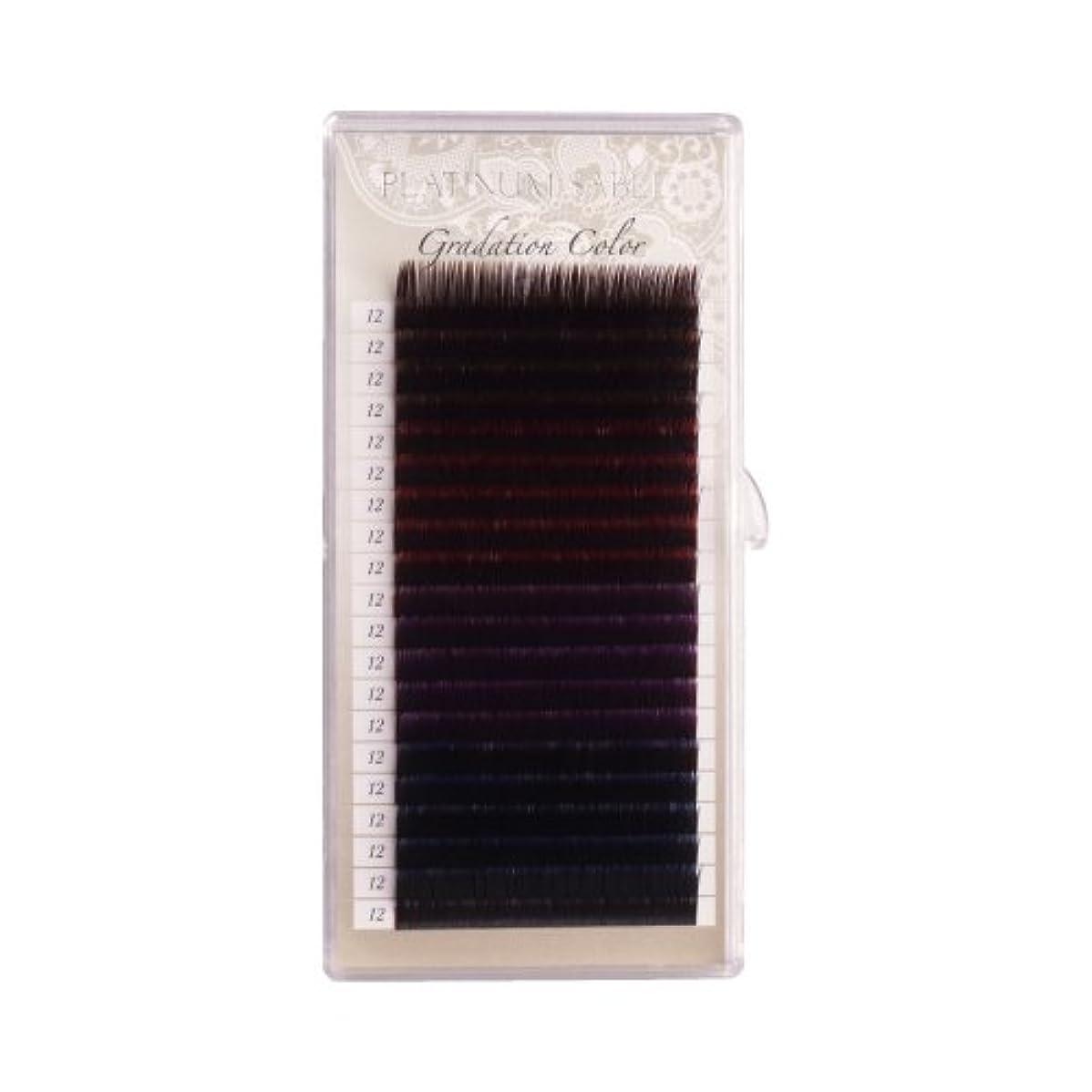 赤面電池ドームプラチナセーブル グラデーションカラーラッシュ 0.20mm Cカール 14mm