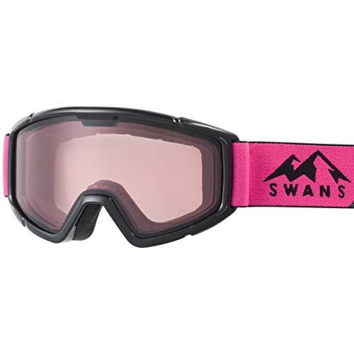 SWANS(スワンズ) 子供用 スキー スノーボード ゴーグル 5歳~12歳 くもり止め ミラー スキー スノーボード 140-DH BKPI