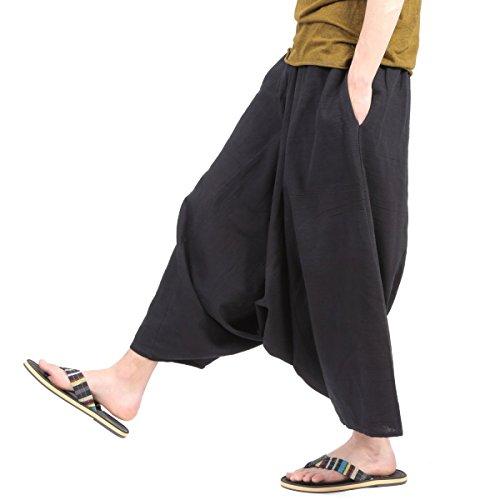 [OKI(オキ)] ガウチョパンツ 袴パンツ ワイドパンツ メンズ レディース エスニック サルエルパンツ スカンツ タイパンツ